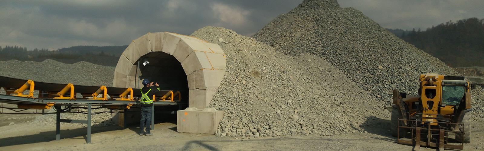 Gravel pit arch